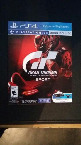 Gran Turismo Sport Ps4 Juego Fisico