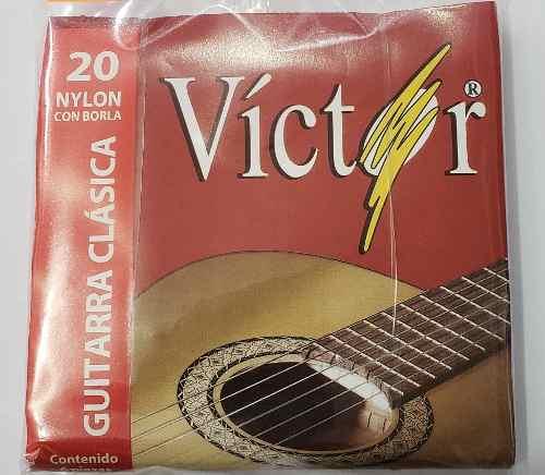 Juego De Cuerdas Victor De Nylon Para Guitarra Acústica.