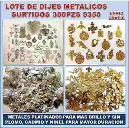 Lote Con 300 Dijes Metalicos Para Joyería Y Bisutería