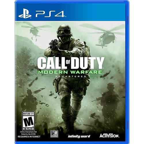 Ps4 Juego Call Of Duty Modern Warfare Remastered