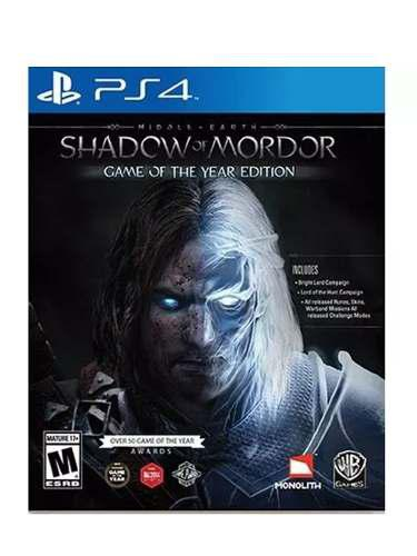 Ps4 Juego Shadow Of Mordor Game Of The Year Edition.