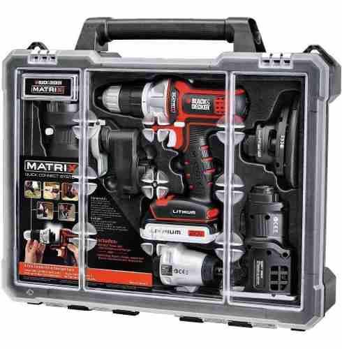 Taladro Matrix Kit 6 En 1 Multi Herramienta 20v Black+decker