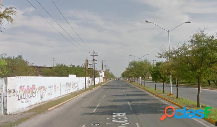 Terreno comercial en Venta sobre Ave. Juarez, Escobedo,N.L.