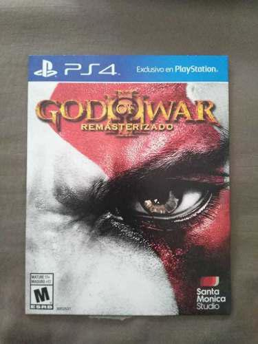 Video Juego God Of War Para Play Station 4