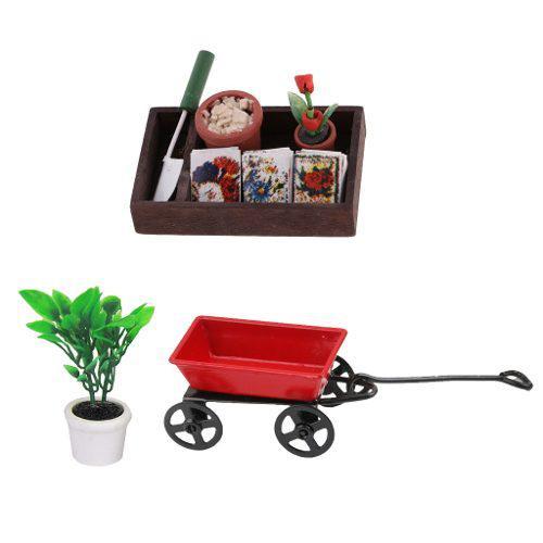 1:12 Muñecas Miniaturas De Casa Muebles Jardín De Metal T