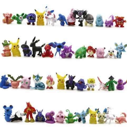144pcs Un Set Pokemon Juguete Mini Figuras Acción Niños
