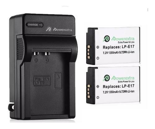 2 Baterias Lp E17 + Cargador Canon Eos 750d Eos 760d Oferta