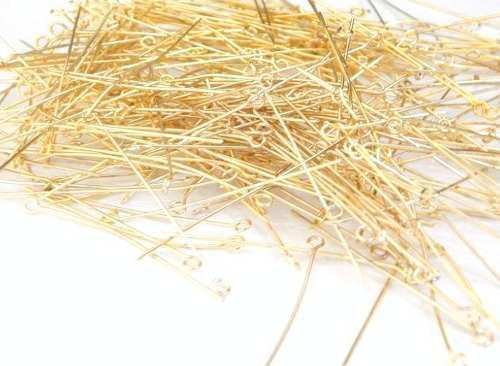 Alfiler Cabeza Engarce Oro Laminado Golden 18k 10g Bisuteria