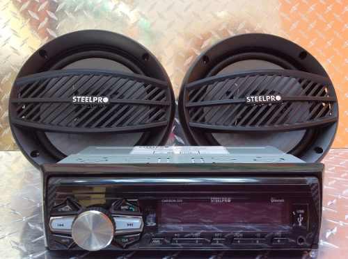 Auto Estereo Steelpro Carbon-325 Bluetooth Usb Sd Multicolor
