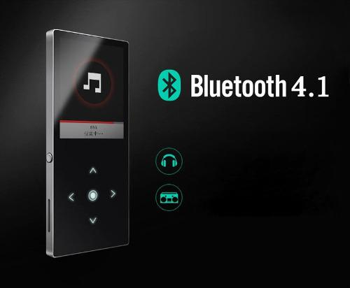 Benjie Reproductor Mp3 Bluetooth Mp4 8gb_ Gris Plateado