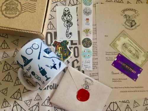 Carta De Aceptación A Hogwarts Harry Potter Con Taza