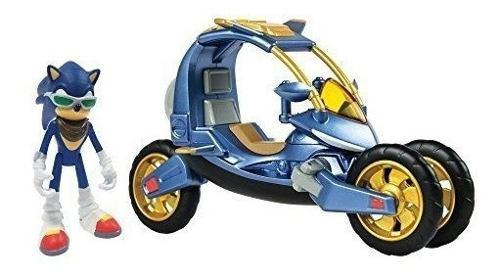 Classic Sonic 1 Figura Con Moto Pack Vehiculo 3 En 1 Nuevo