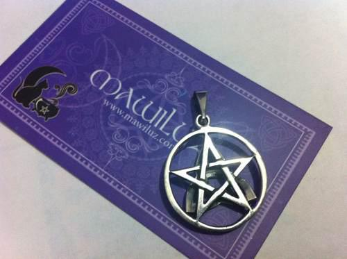 Dije Plata Triqueta Y Pentagrama Mawiluz Wicca Celta Bruja