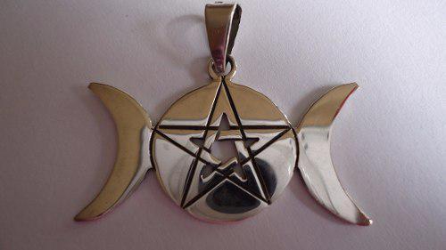 Dije Triple Diosa Pentagrama Mawiluz Wicca Celta Bruja