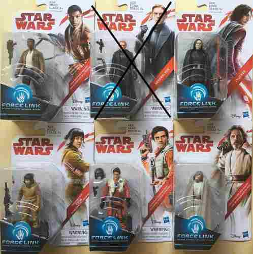 Figuras Star Wars Force Link, Kylo Ren, Luke, Precio C/u