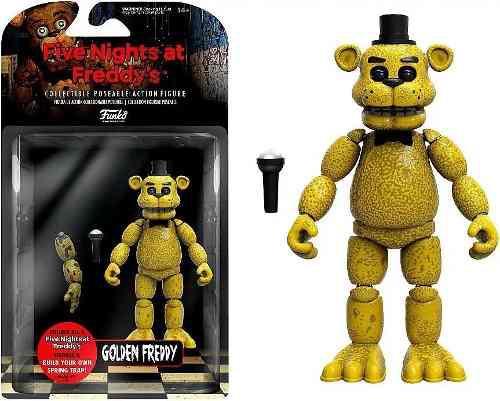 Five Nights At Freddys Figura Golden Freddyarticulada