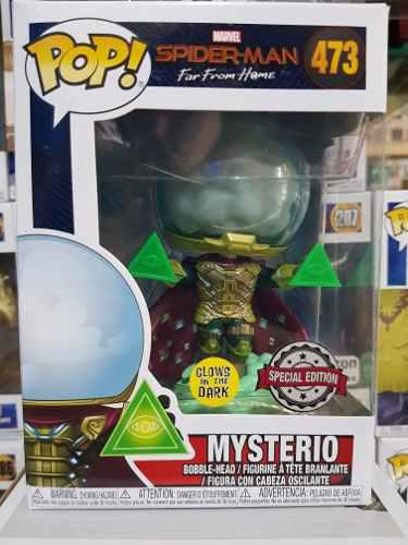 Funko Pop Mysterio Glow Spider Man Exclusivo