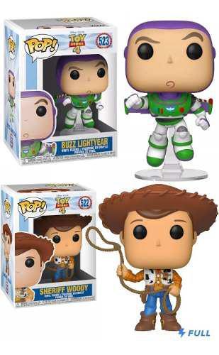 Funko Pop Woody #522 Buzz #523 Toy Story 4 Disney Oferta!
