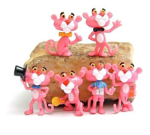 Genial Set De 6 Piezas De La Pantera Rosa De Coleccion