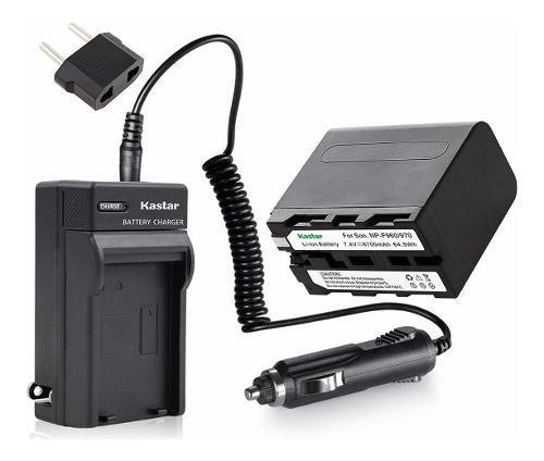 Kit Bateria Y Cargador Sony Np-f Larga Duracion 8700mah