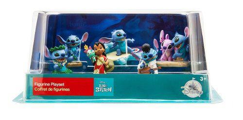 Lilo &stitch Set Figuras Stitch Lilo Angel Disney Store 2018