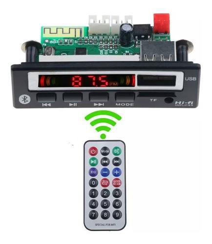 Modulo Reproductor Audio Mp3 Bluetooth Usb Sd Fm +batería