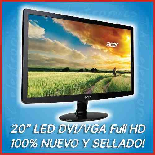 Monitor Acer 20 Dvi/vga Led  Full Hd | Pregunta Por