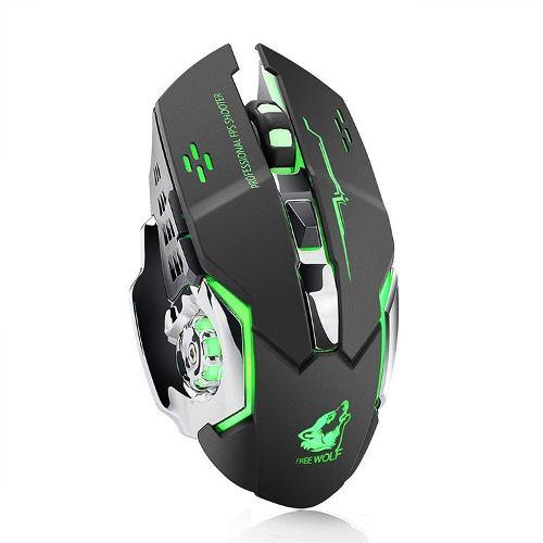 Mouse Inalámbrico Gaming Recargable Ratón 6 Botones 2.4ghz
