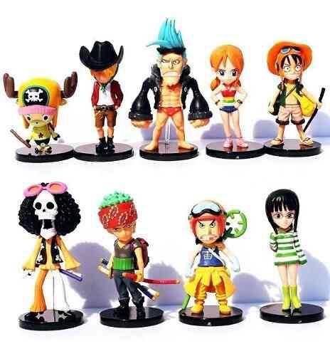 One Piece 9 Figuras Luffy Zoro Brook Nami Sanji Nico