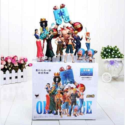One Piece Mugiwaras 10 Figuras Luffy Zoro Brook Envío