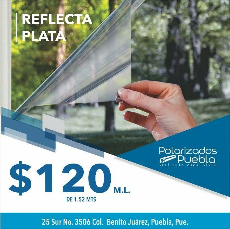 Película Reflectiva Plata, para cristal