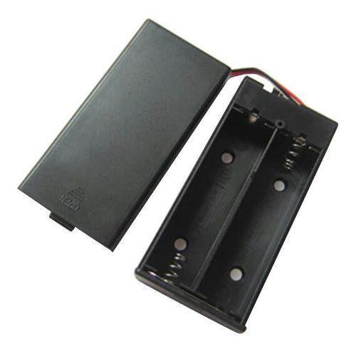 Porta Pilas Baterias 18650 Doble En Serie Con Tapa Y Switch