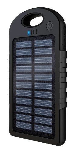 Power Bank Solar Con Lámpara Doble Usbrecargable Mah Powsol