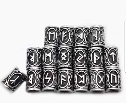 Runas Vikingas En Acero Inoxidable (24 Piezas)
