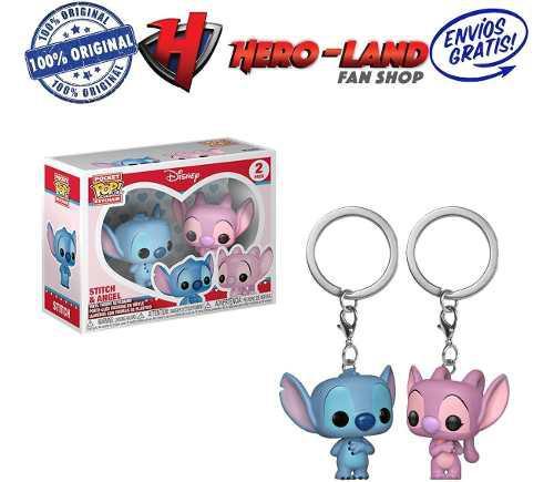 Stitch Y Angel Llavero Funko Pop Disney Parejas Keychain Pop