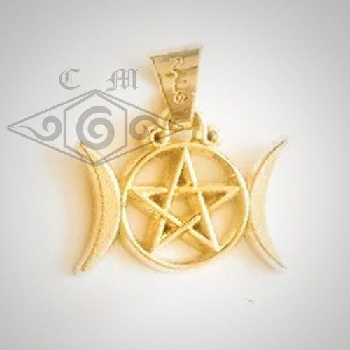 Talisman Wicca Luna Pentagrama Amor Prosperidad Protección