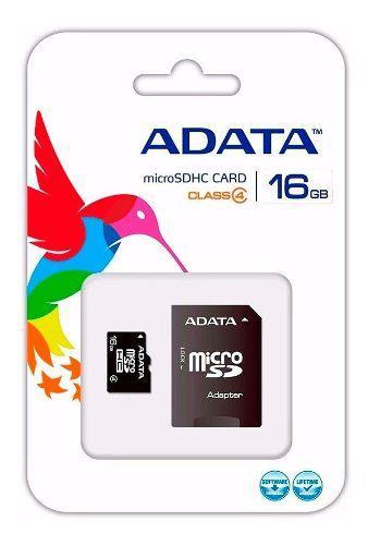 10 Memorias Micro Sd 16gb Adata Clase 4 Adaptador Originales