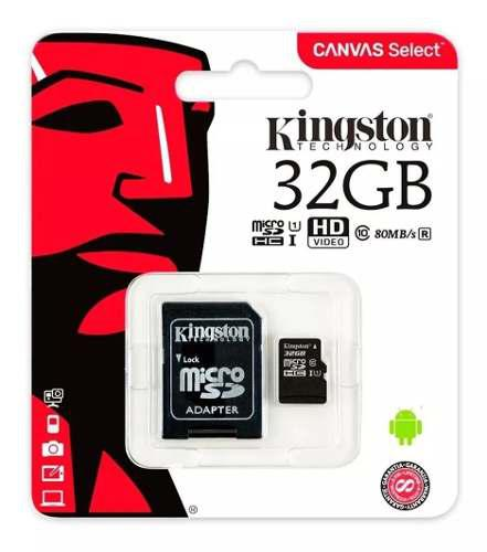 Memoria Micro Sd 32gb Clase 10 Kingston Tablet Celulares