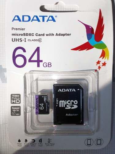 Memoria Micro Sd 64gb Adata Clase 10