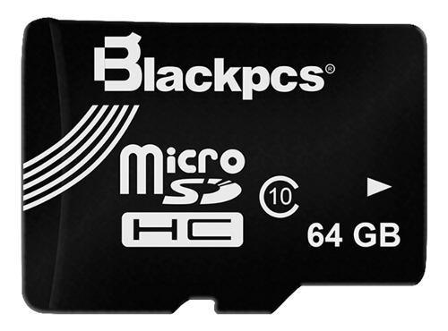 Memoria Micro Sd 64gb Blackpcs Clase 10 Sdhc Máxima