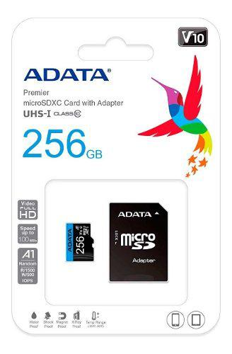 Memoria Micro Sdxc 256gb Adata Clase 10 Video Full Hd V10