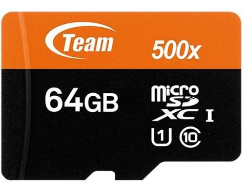 Memoria Micro Sdxc 64gb Teamgroup Clase 10 Full Hd Tusdx64gu
