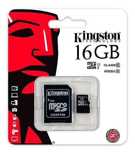 Micro Sd 16gb Kingston Clase 10 Full Celular Samsung Huawei