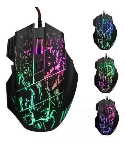 Mouse Gamer 7 Botones Led Gaming Alambrico Usb Gran