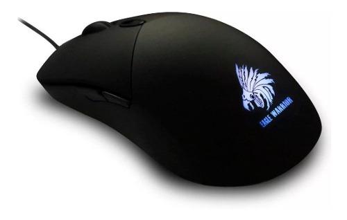 Mouse Gamer Eagle Warrior G37 Infinite Alámbrico Negro