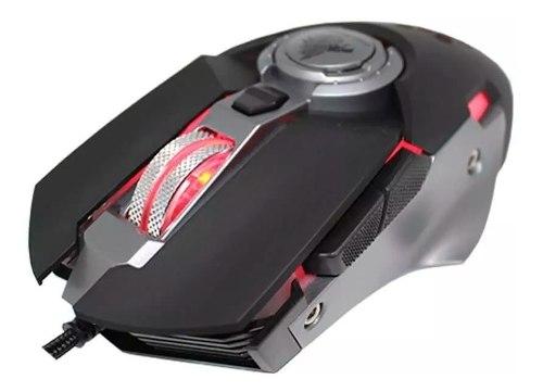Mouse Gamer Eagle Warrior Hive Gx61 Óptico Retro Iluminado