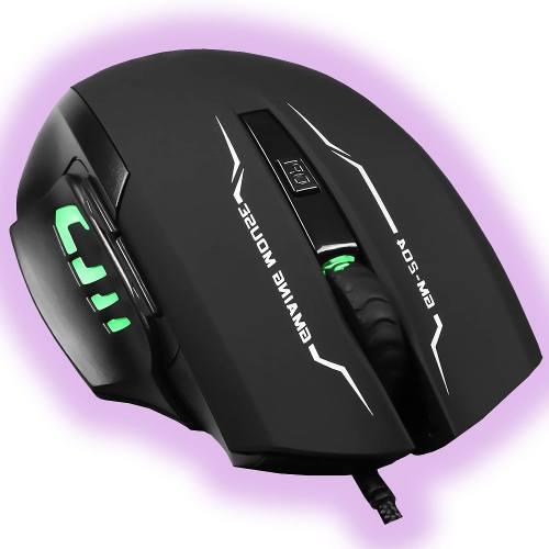 Mouse Gamer Optico Iluminado 6 Botones  Dpi Led Pc Usb