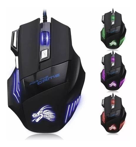 Mouse Raton Ergonomico Gaming Gamer Optico Alambrico Usb Led