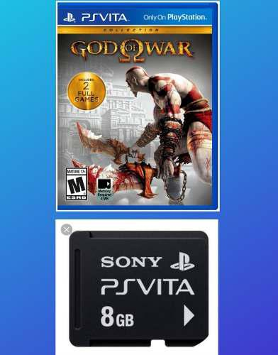 Pack Memoria 8gb Y Juego God Of War Collection Psvita