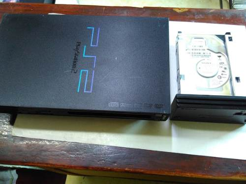 Play Station 2 Fat Con Adaptador Y Disco Duro Original